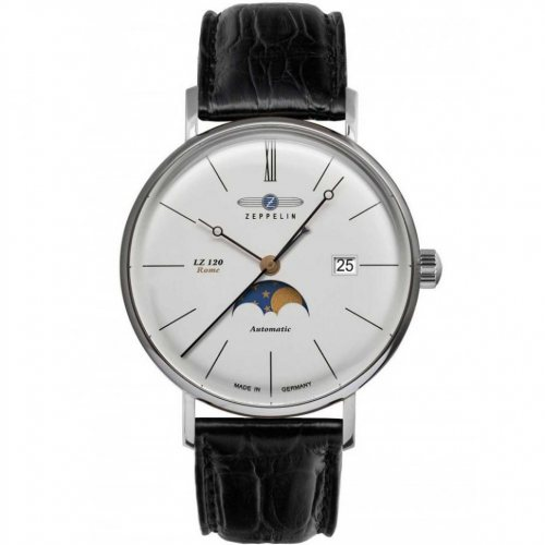 Zeppelin 7108-4 Rome automatic moon phase 41mm 5ATM