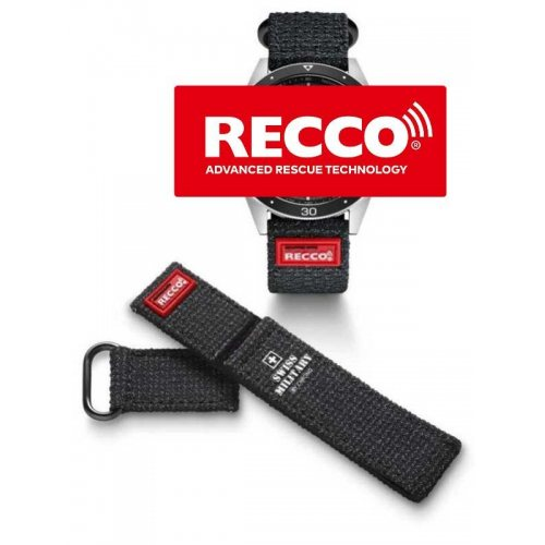 Swiss Military RECCO B.A14080.05 rescue-reflector kevlar strap 22 mm lug width