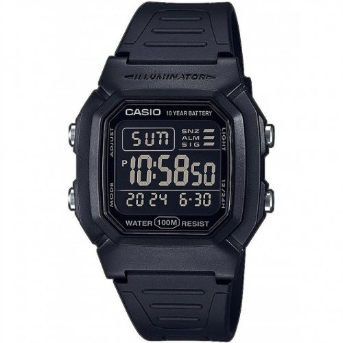 Casio W-800H-1BVES Collection men`s 37mm 10ATM