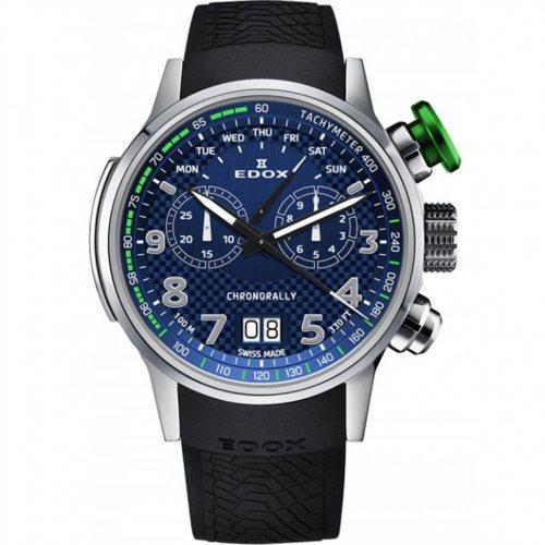 Edox 38001-TINV-BUV3 Chronorally chronograph 48mm 10ATM